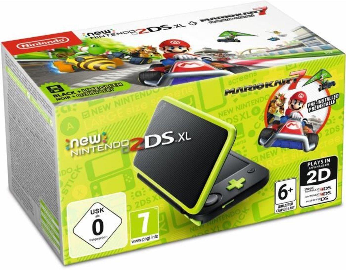 New Nintendo 2DS XL + Mario Kart 7 - Zwart/ Groen