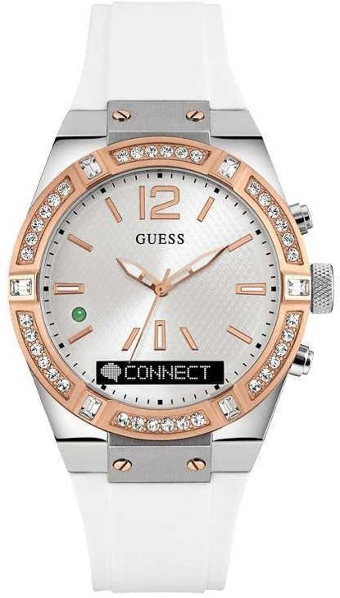 GUESS Watches Unisex horloge C0002M2 - siliconen - wit - Ø 45 cm