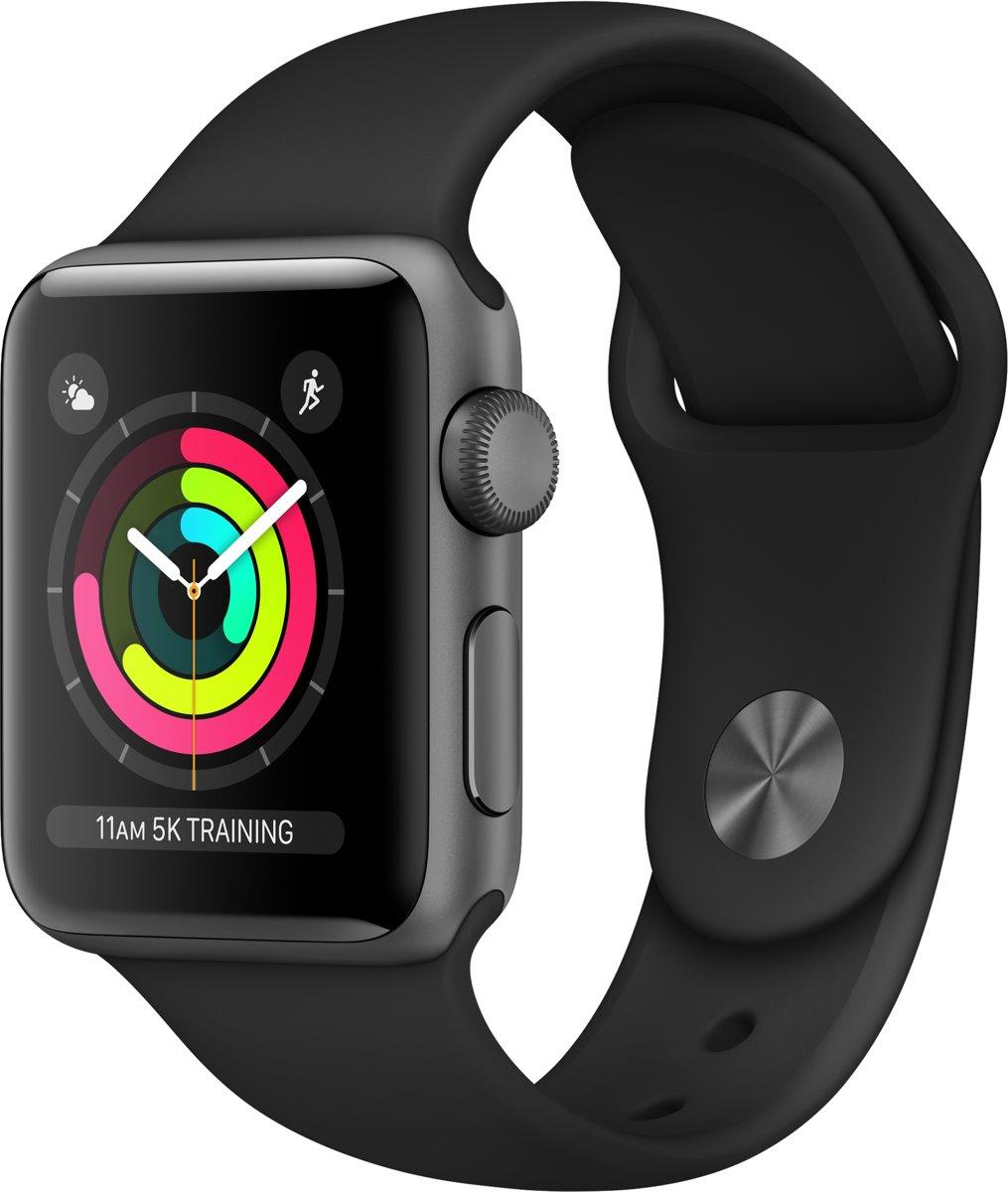 Apple Watch Series 3 - Smartwatch 38mm - Spacegrijs Aluminium / Zwart Sportband