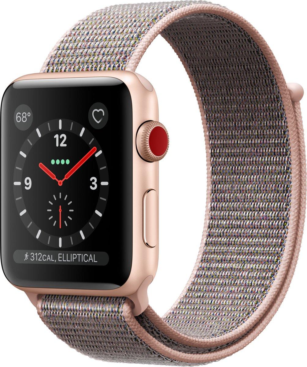 Apple Watch Series 3 - Smartwatch - Roze/Goud - 42mm