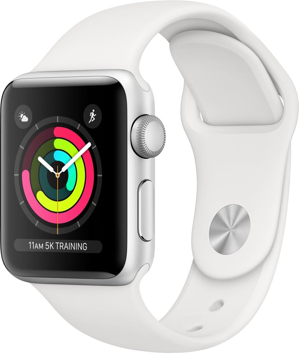 Apple Watch Series 3 - 38mm Zilver Aluminum / Wit Sportbandje (GPS)