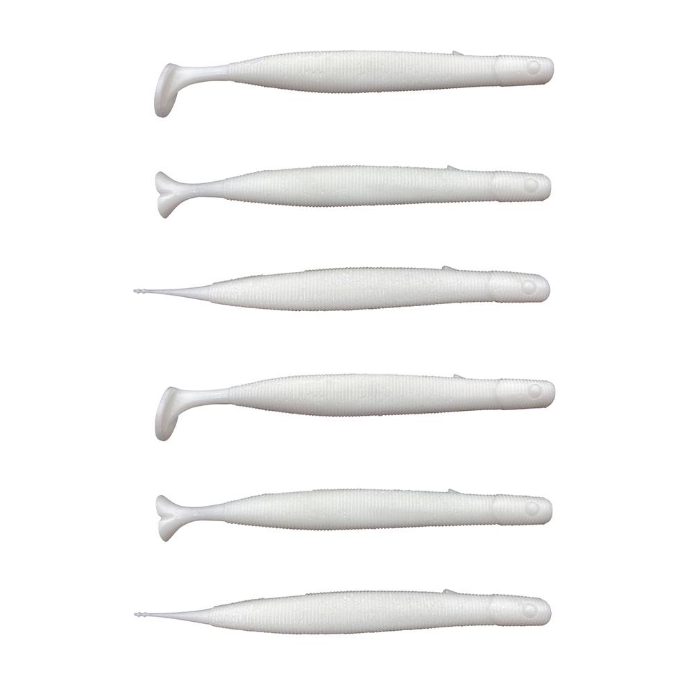 Savage Gear Gravity Stick Paddletail - White - 14cm - 15g - 6 Stuks