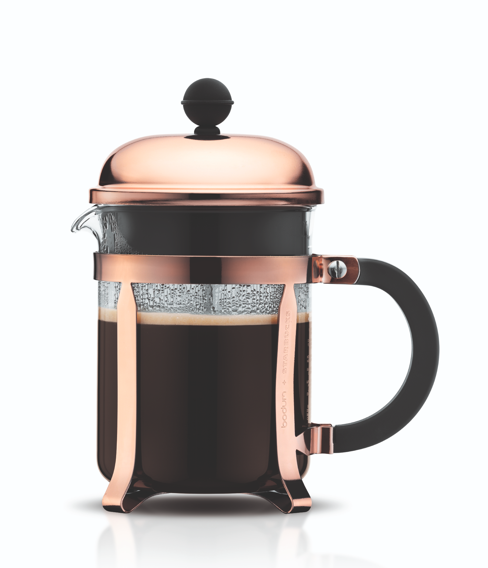 Bodum Cafeti?re Chambord Zwart/Koper 0.5 Liter