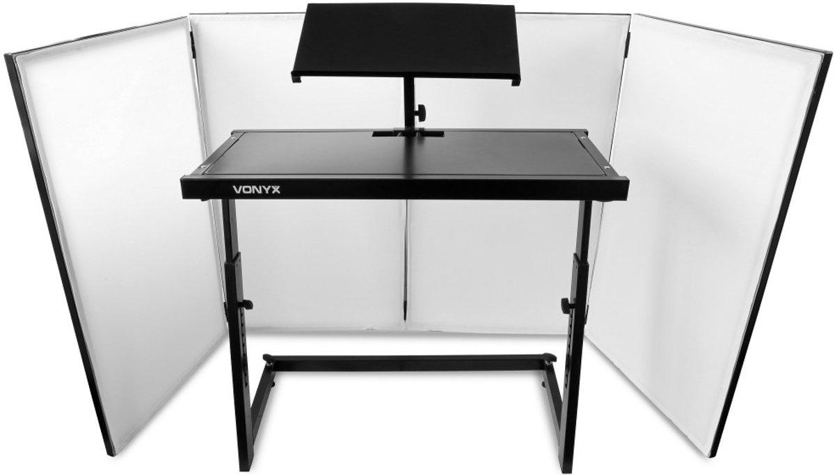 Vonyx Inklapbare DJ Booth voor de mobiele DJ bestaande uit meubel en scherm