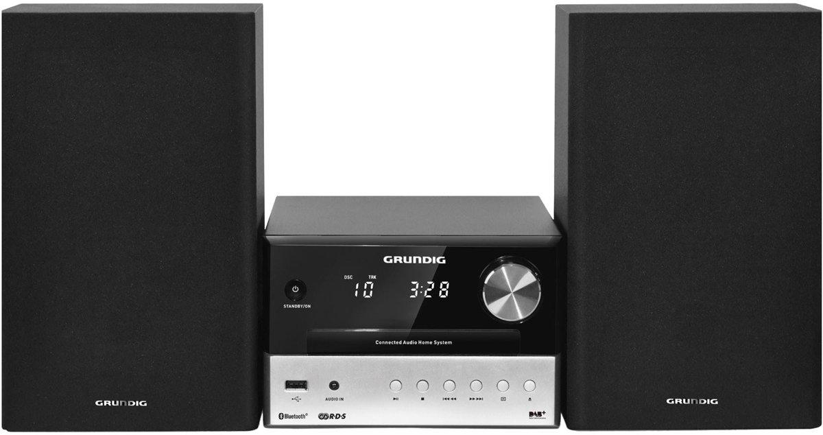 Grundig CMS 3000 BT DAB+ Home audio-microsysteem Zwart, Zilver 30 W