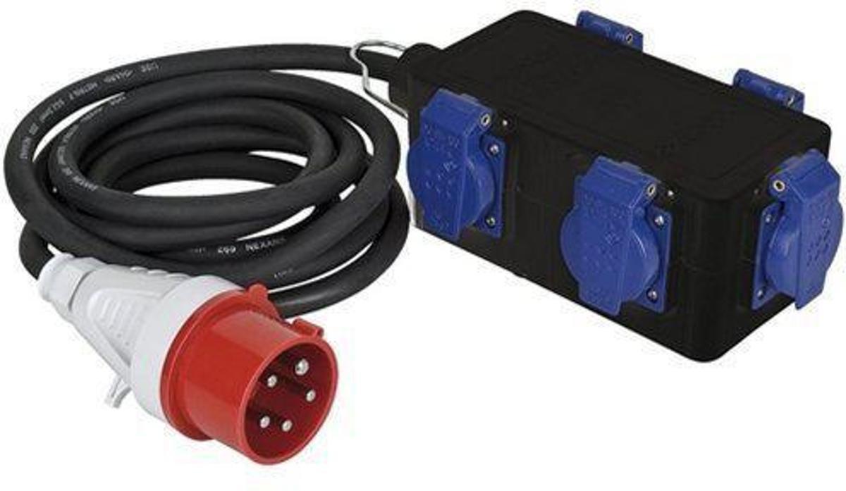Showtec Showtec Powersplit 1, 5-pins CEE 16A - 5 x Schuko Home entertainment - Accessoires