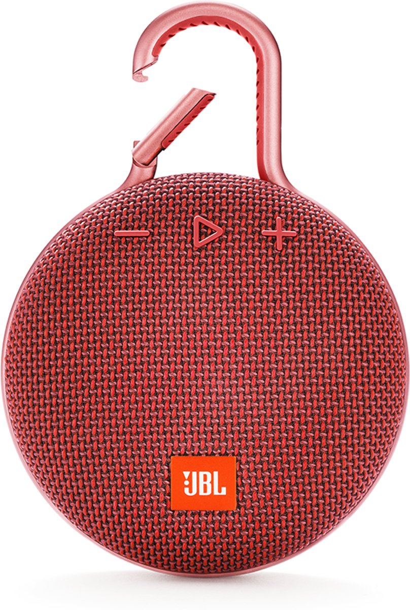 JBL Clip 3 Fiesta Red Bluetooth speaker