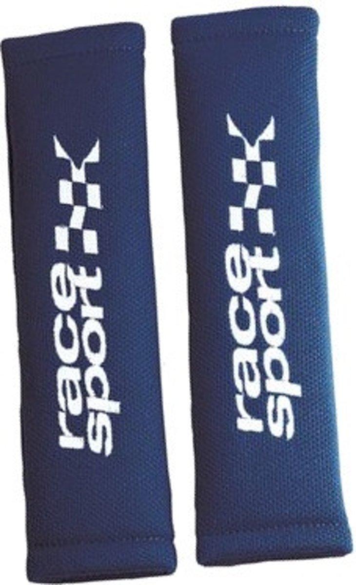 Race Sport Gordelhoezen 28 X 8 Cm Textiel Blauw 2 Stuks