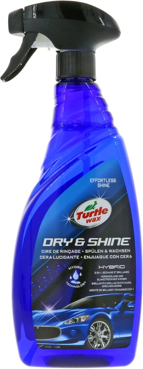 Turtle Wax Hybrid Dry & Shine Rinse Wax 750ml