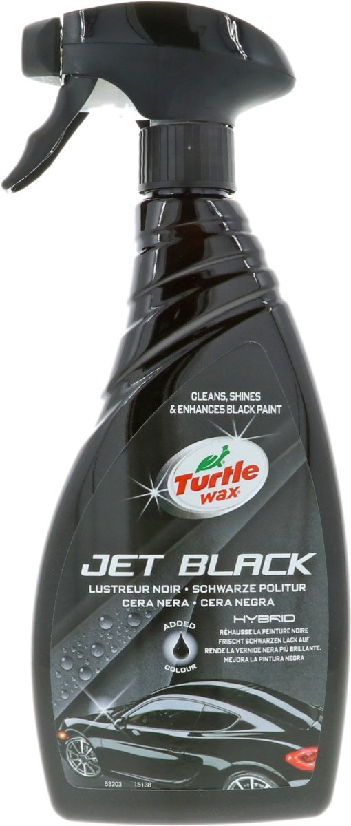 Turtle Wax Hybrid Jet Black Spray Polish 500ml