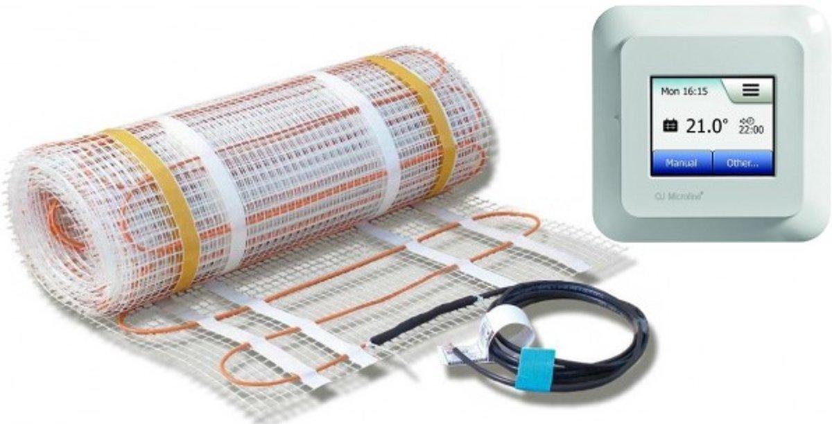 ECOFLOOR / BUDGET 4MM VLOERVERWARMING, 140W/M2, INCL. MWD5 WIFI, 11m_