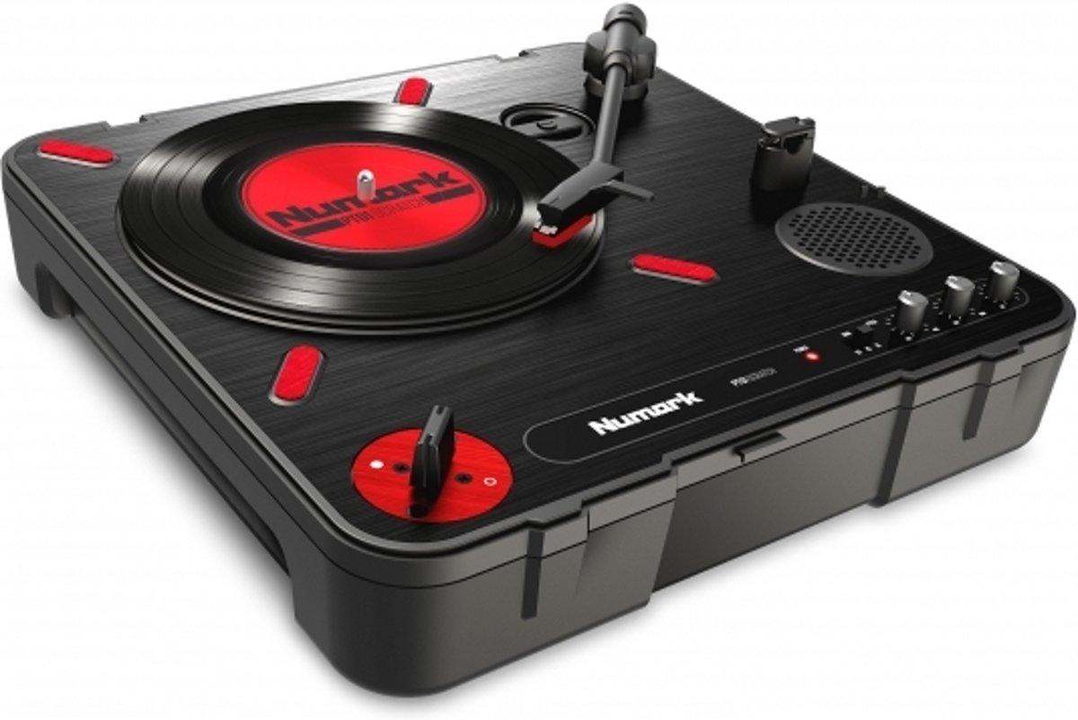 Numark PT01 DJ-draaitafel Draaitafel (dj) met directe aandrijving Zwart, Rood