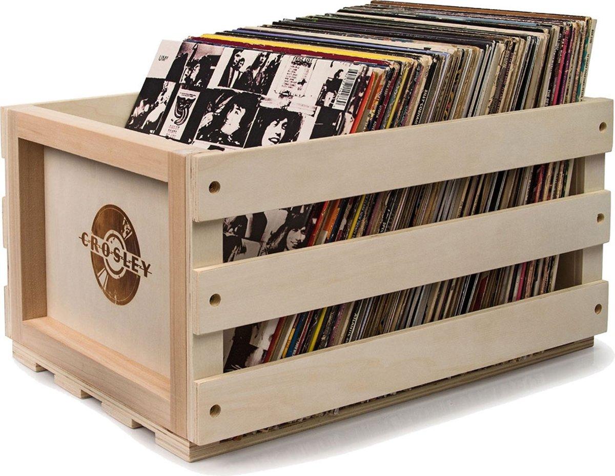Crosley Opslag Krat Voor Opbergen Vinyl LP's – Hout – 35x31x45 (BxHxD)