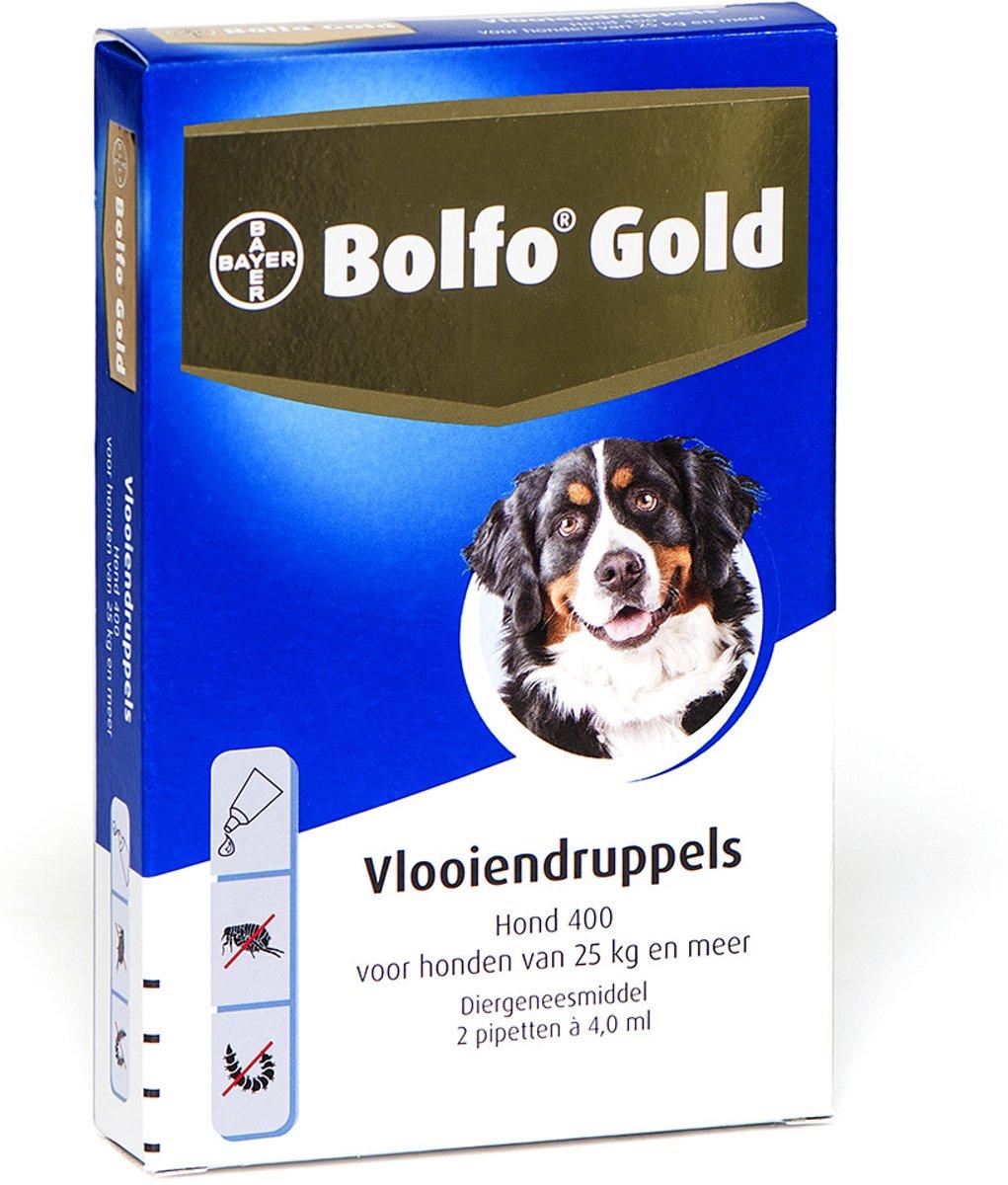 Bolfo Gold 400 Anti vlooienmiddel - Hond - <gt/>25 kg - 2 pipetten