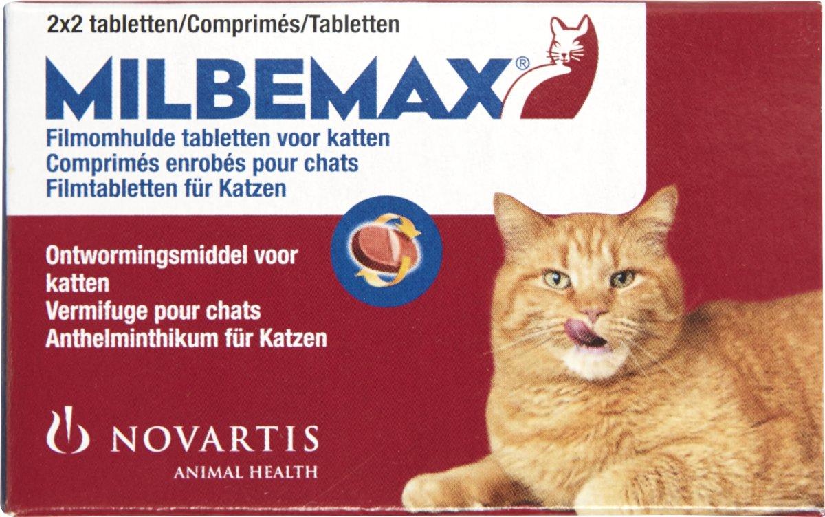 Milbemax Ontwormingsmiddel - Volwassen Kat - 2x2 Tabletten