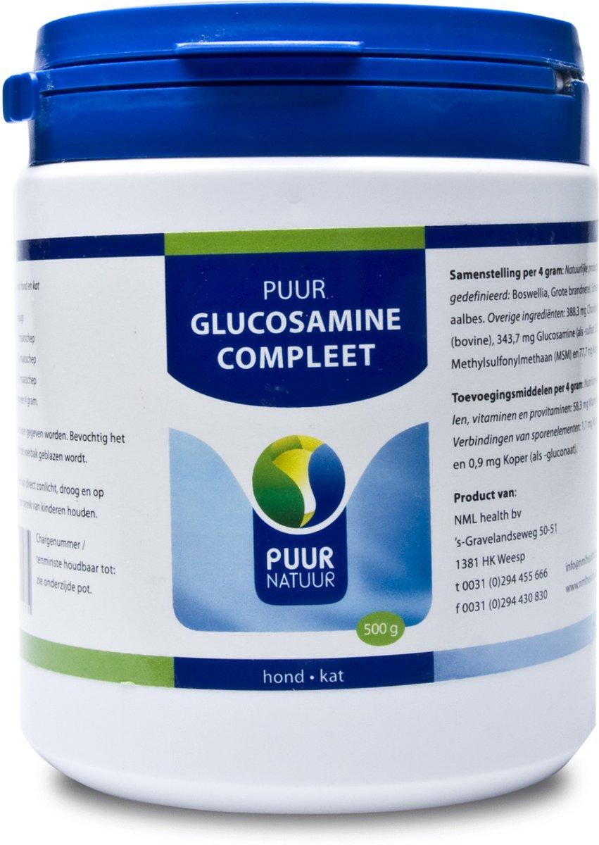 Puur Natuur Glucosamine Extra (Compleet) Voor Hond En Kat - 500 GR