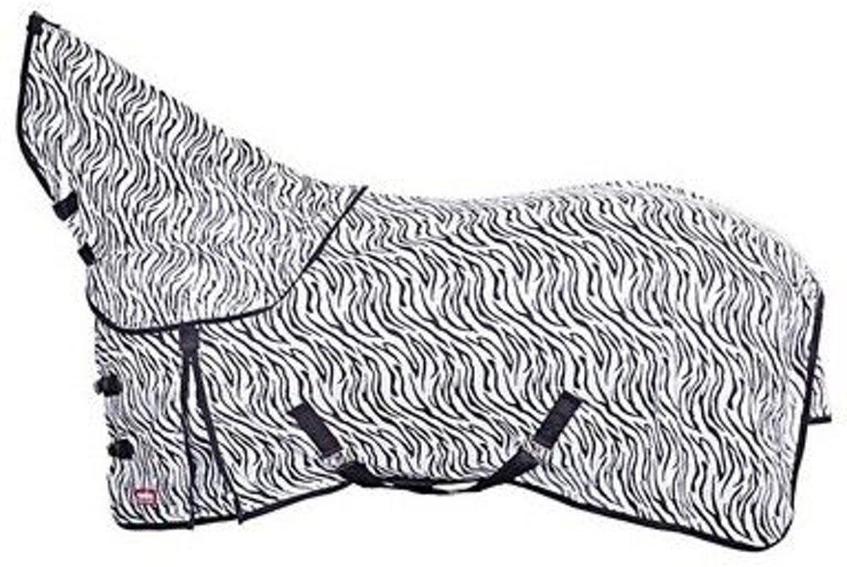 Premiere Vliegendeken met Afneembare Hals Zebra