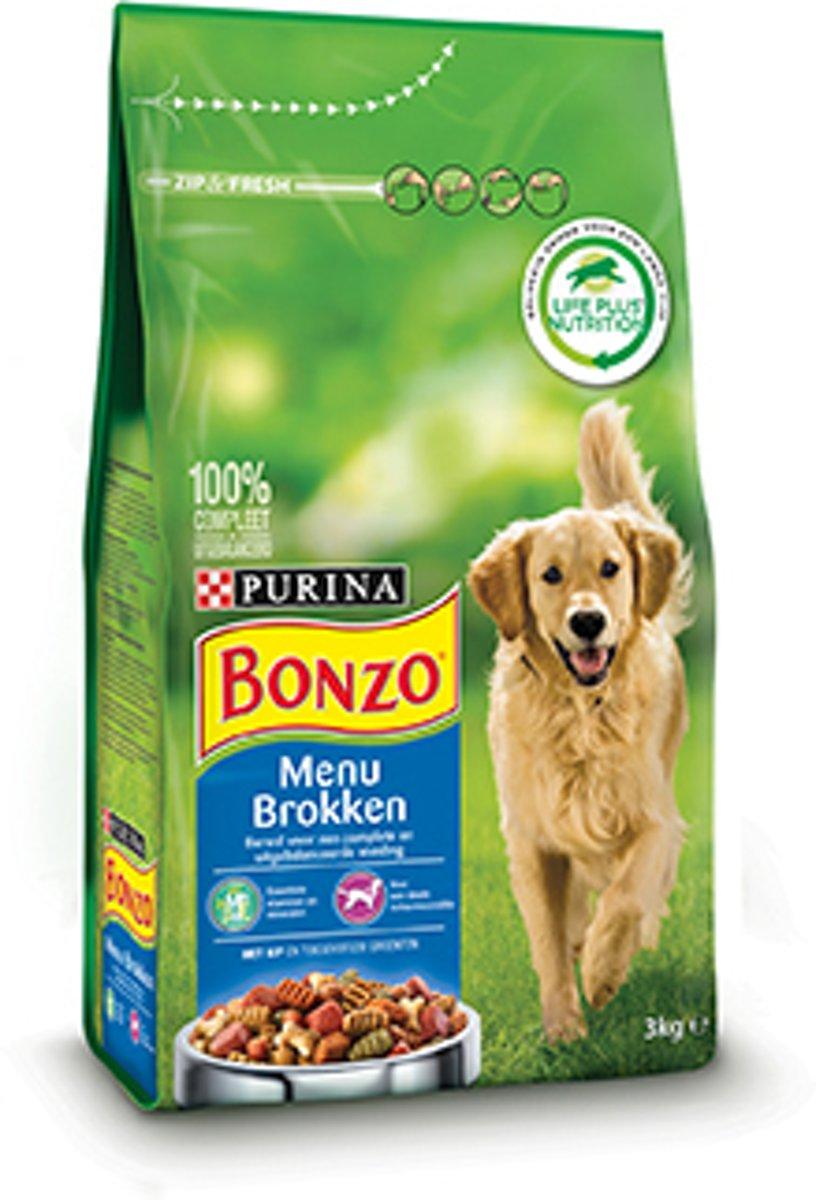 Bonzo Menubrokken - Hondenvoer - 3 kg