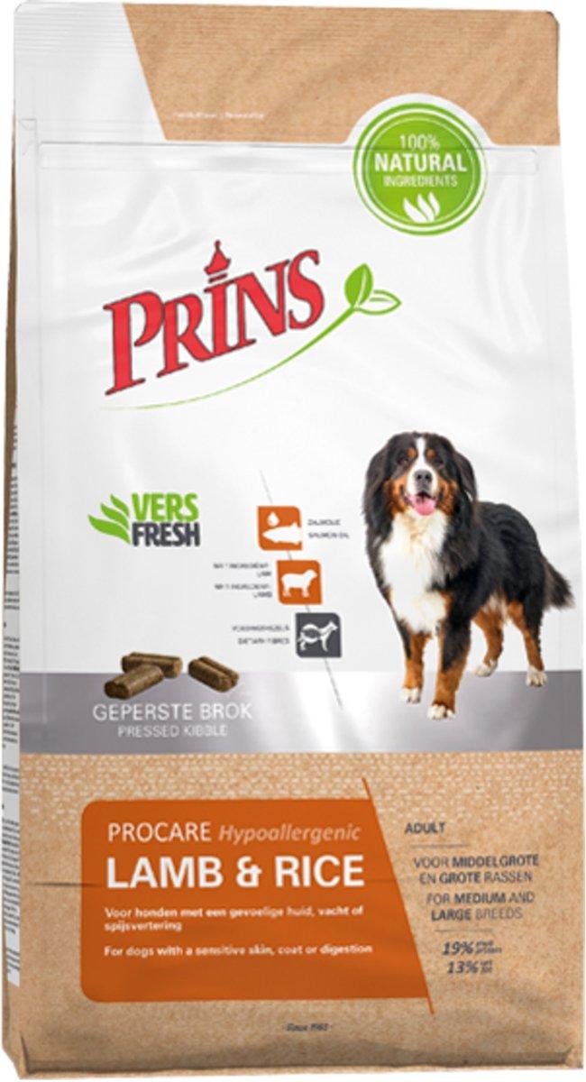Prins Procare  Lam & Rijst - Hondenvoer - 3 kg