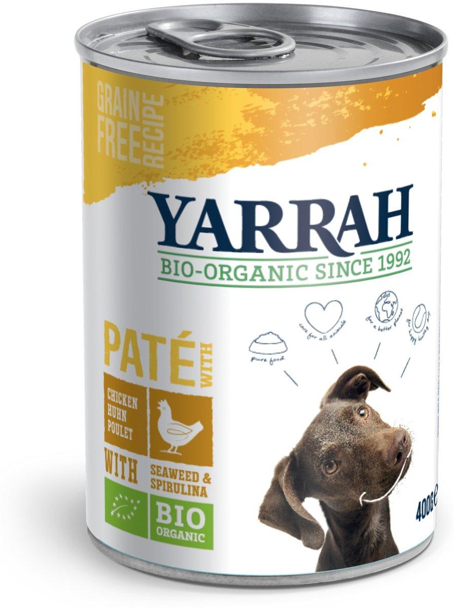 Yarrah Biologische Welness Hondenvoer Pate - Spirulina en Zeewier - 400 gr