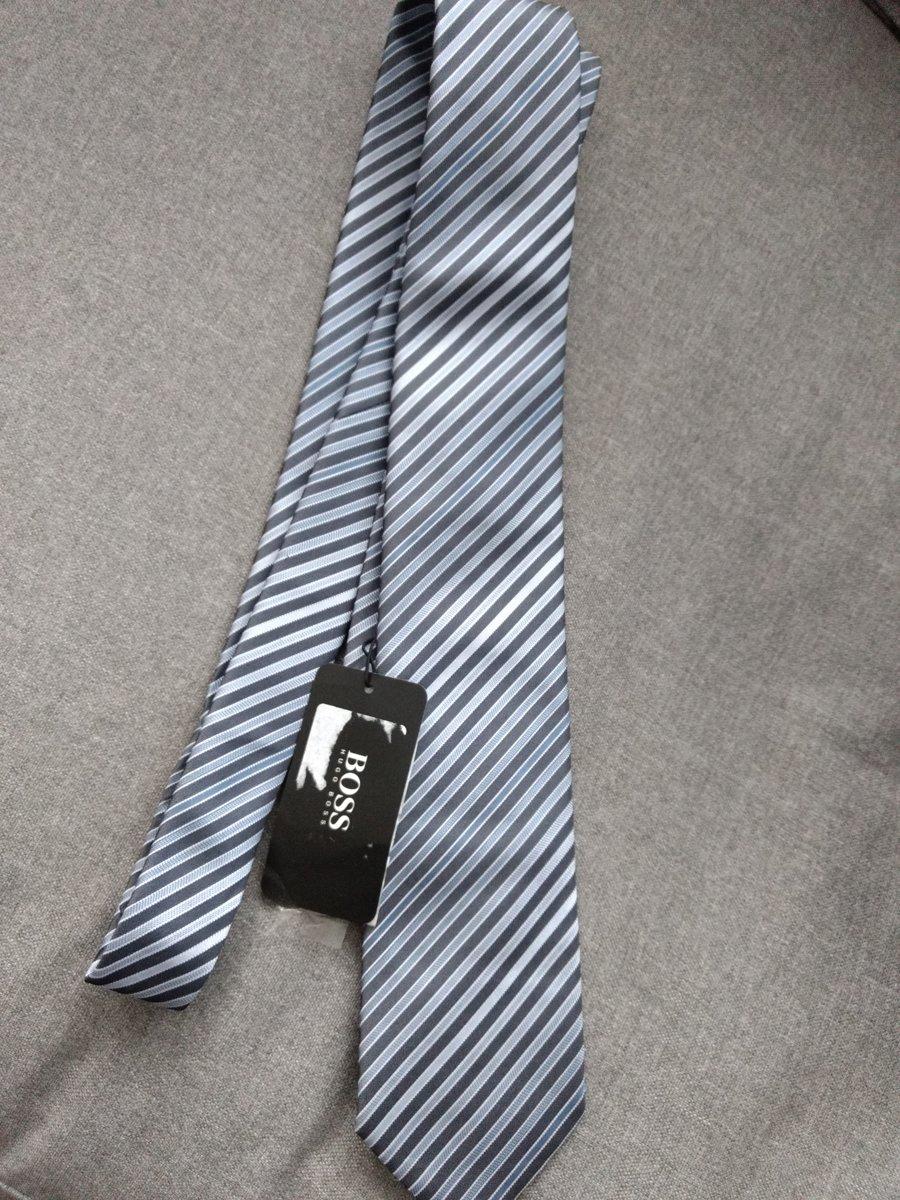 Hugo Boss Zijden stropdas gestreept