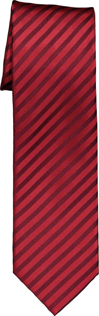 OLYMP stropdas - rood-bordeaux gestreept