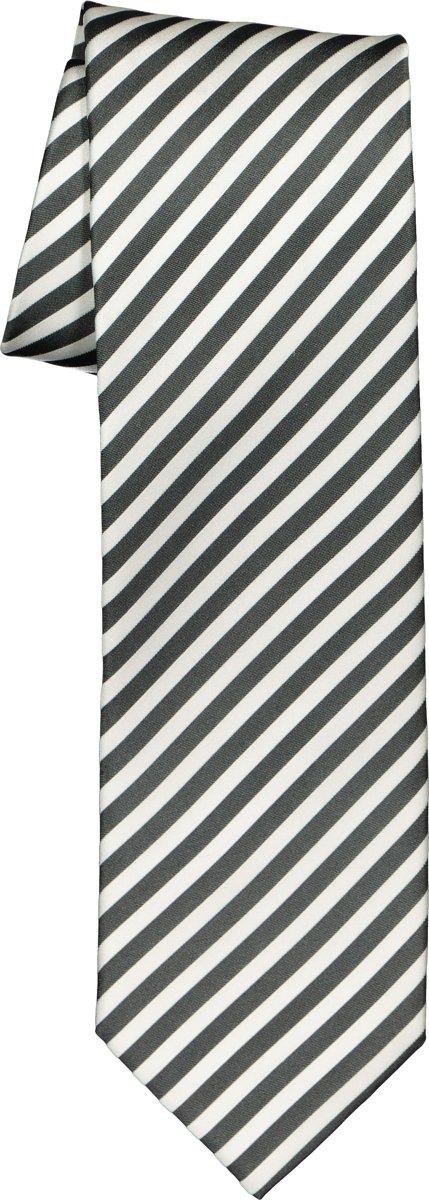 OLYMP stropdas - grijs-wit gestreept