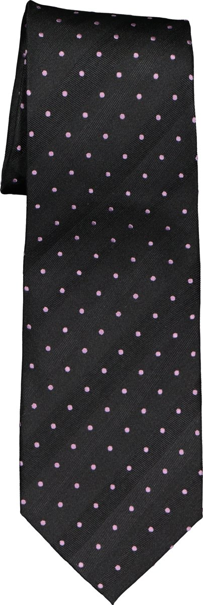 Eterna  stropdas - zwart met roze stip