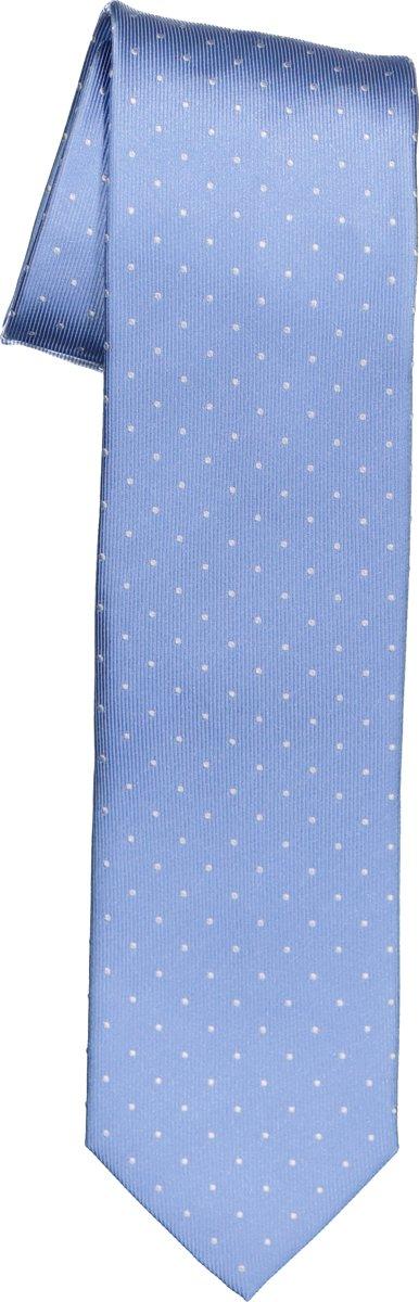 OLYMP smalle stropdas - licht blauw gestipt