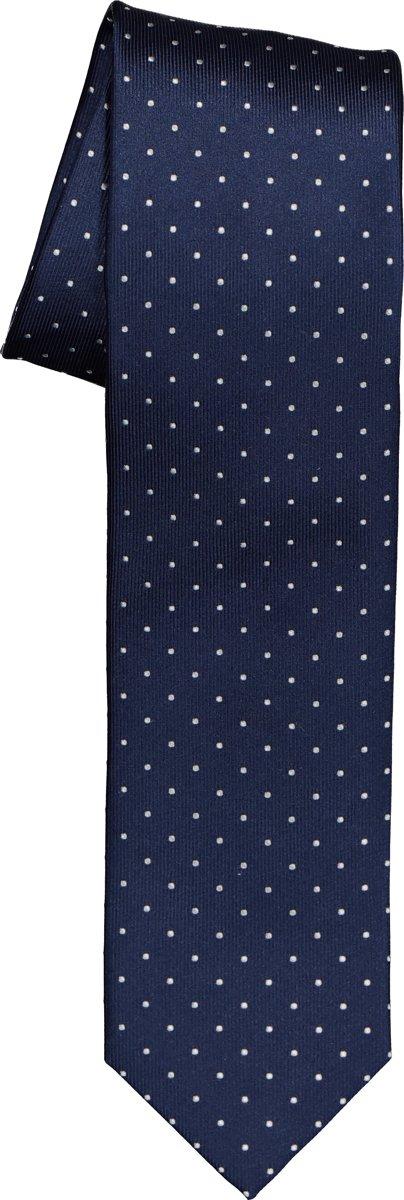 OLYMP smalle stropdas - marine blauw gestipt