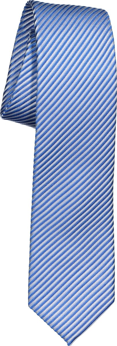 OLYMP stropdas - blauw-wit gestreept
