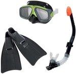 Snorkel set Surf Rider junior zwart/groen