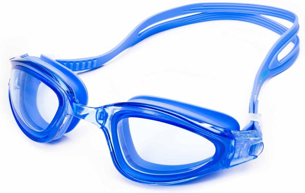 #DoYourSwimming - Zwembril incl. transportbox - ?Shark? - anti-fog systeem, krasbestendige glazen met ge?ntegreerde UV-bescherming  - Vanaf ca. 12 jaar & volwassenen - blauw