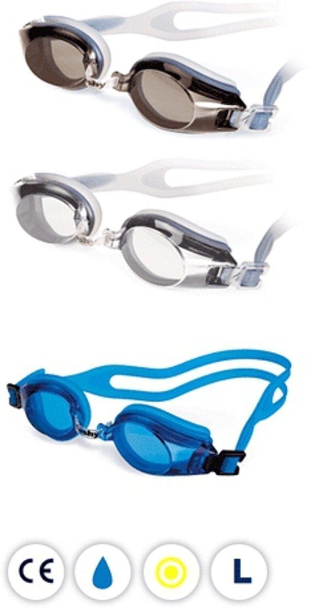 Zwembril met UV bescherming voor volwassenen  blauw