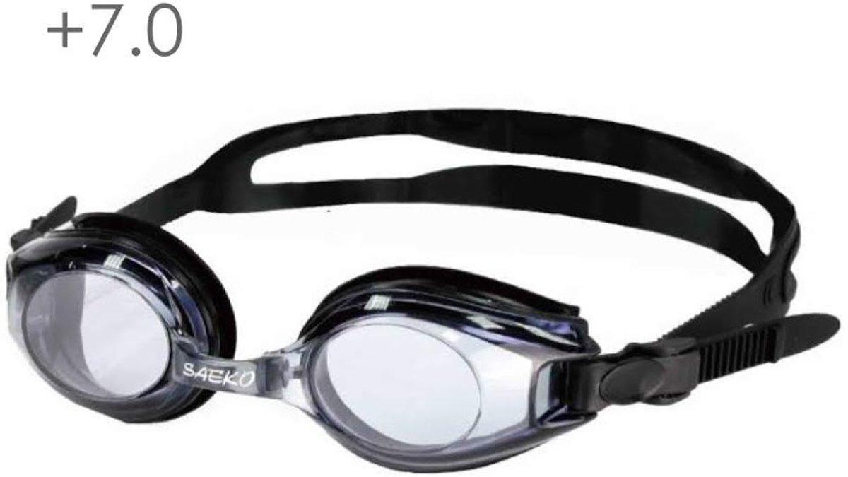 Zwembril op sterkte +7.0 (smoke)