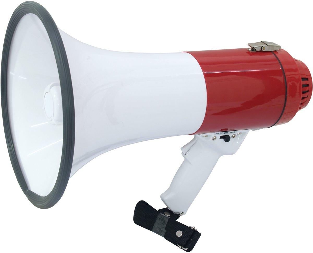 Melchioni MP-18 Buiten 18W Rood, Wit megafoon