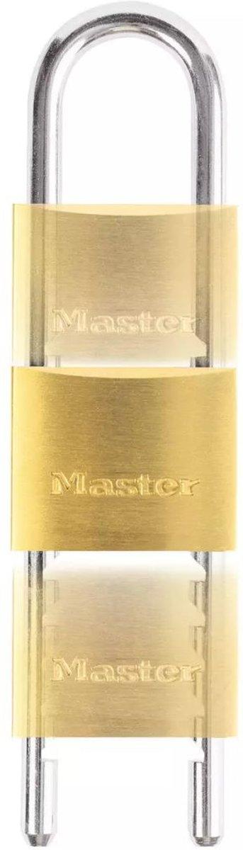 Master lock hangslot verstelbare beugel 50 mm massief messing 1950eurd