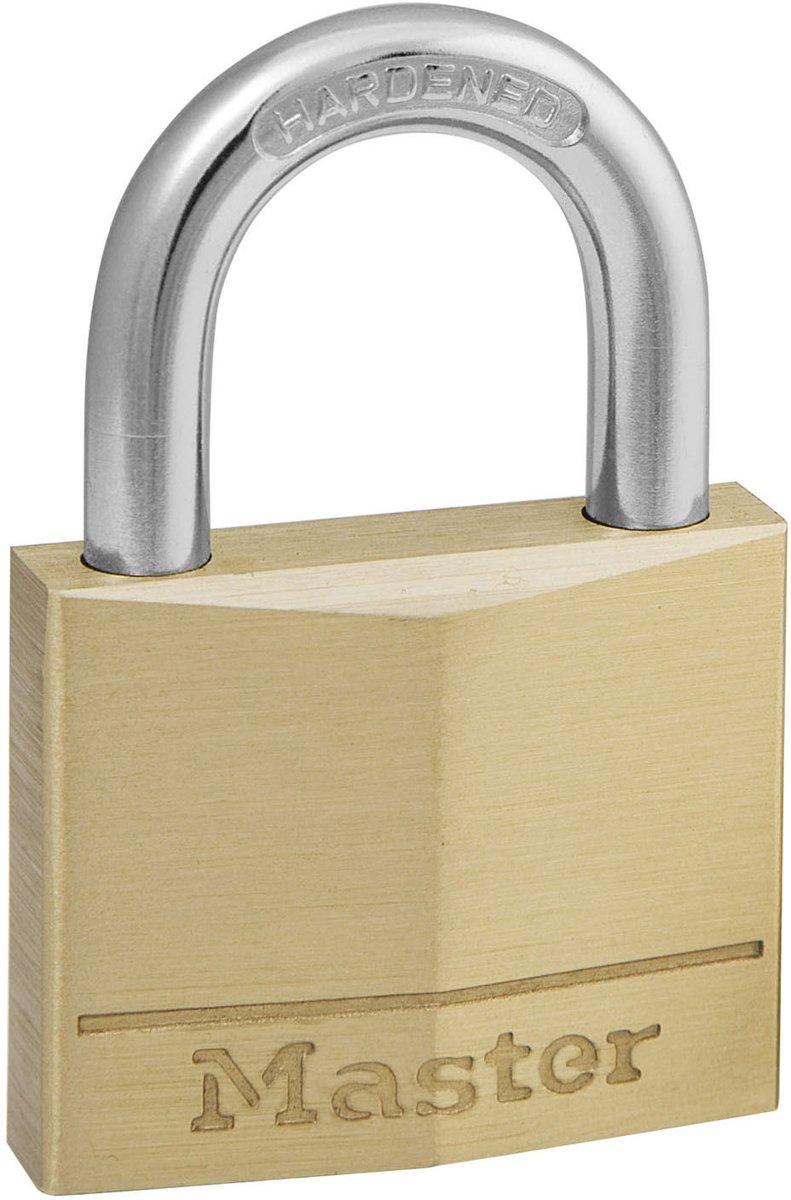 Master lock hangslot 40 mm massief messing 140eurd