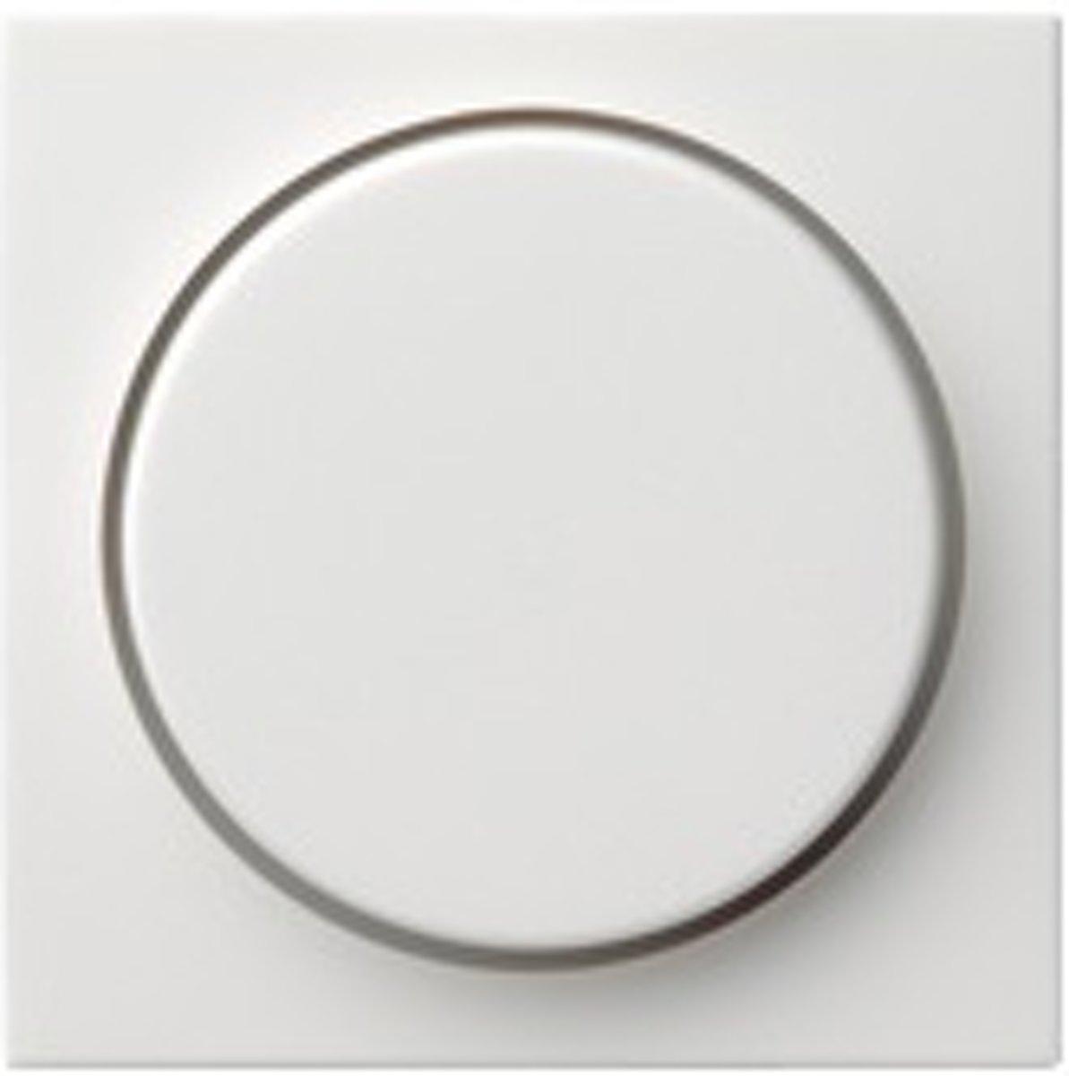Gira - Druk/Draai inzetplaat voor dimmer Wit Glanzend