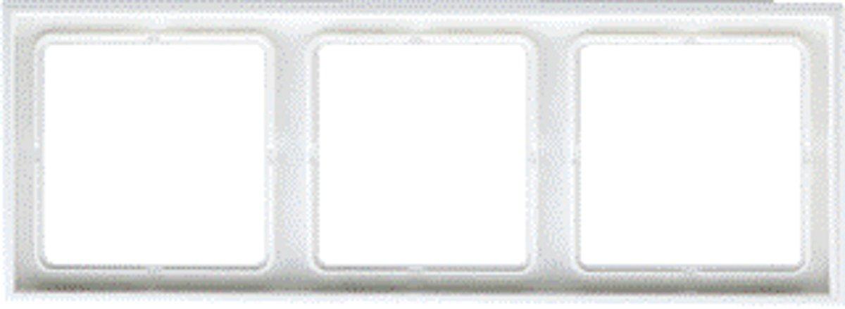 Jung LS990 Afdekraam 3 voudig Alpin Wit