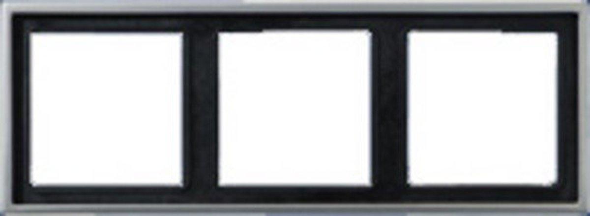 81 X 223 mm afdekraam 3-voudig RVS