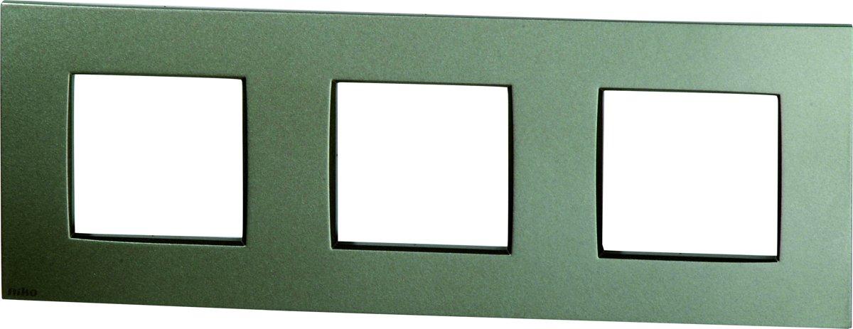 NIKO Intense Bronze afdekplaat 3V horizontaal