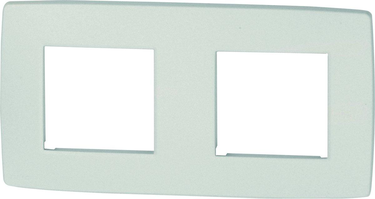 NIKO Original White afdekplaat - tweevoudig horizontaal