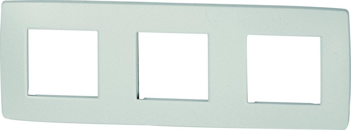 NIKO Original White afdekplaat - drievoudig horizontaal