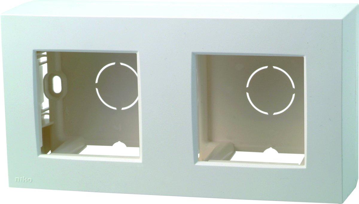 NIKO Original White losse opbouw doos - dubbel