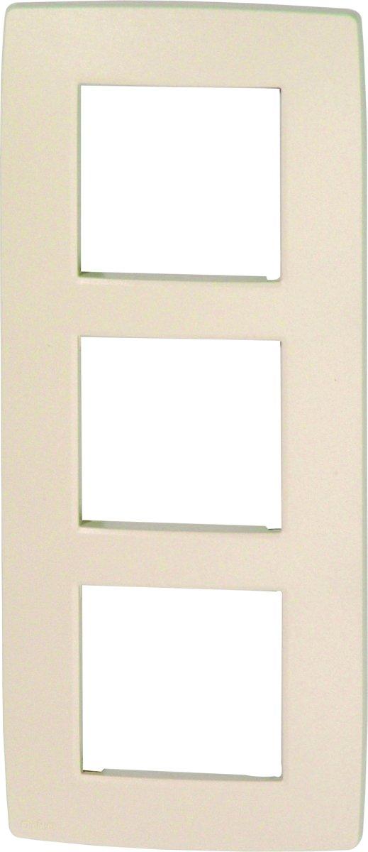 NIKO Original Cream afdekplaat - drievoudig verticaal