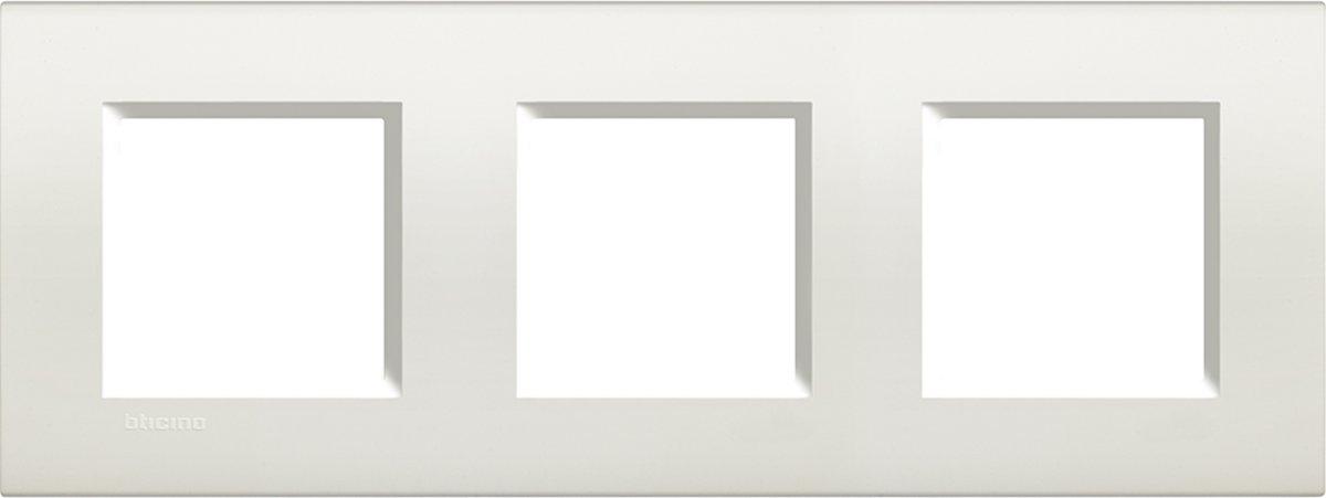 BTICINO Living Light - afdekplaat - 3V - verticaal/horizontaal - wit