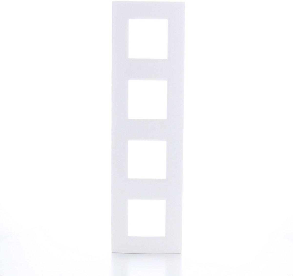 BTICINO Living Light - afdekplaat - 4V - verticaal/horizontaal - wit