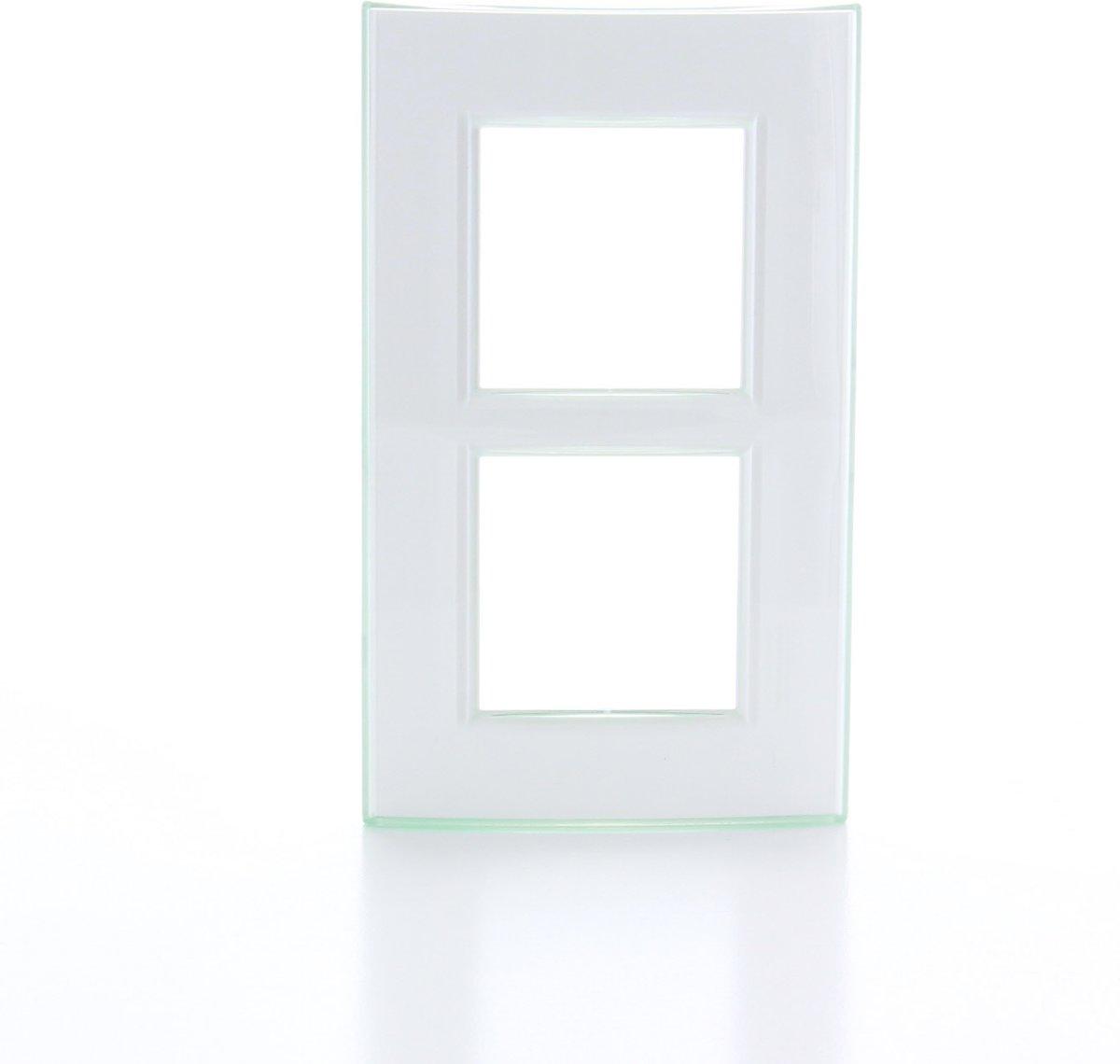 BTICINO Living Light - afdekplaat - 2V - verticaal - aqua