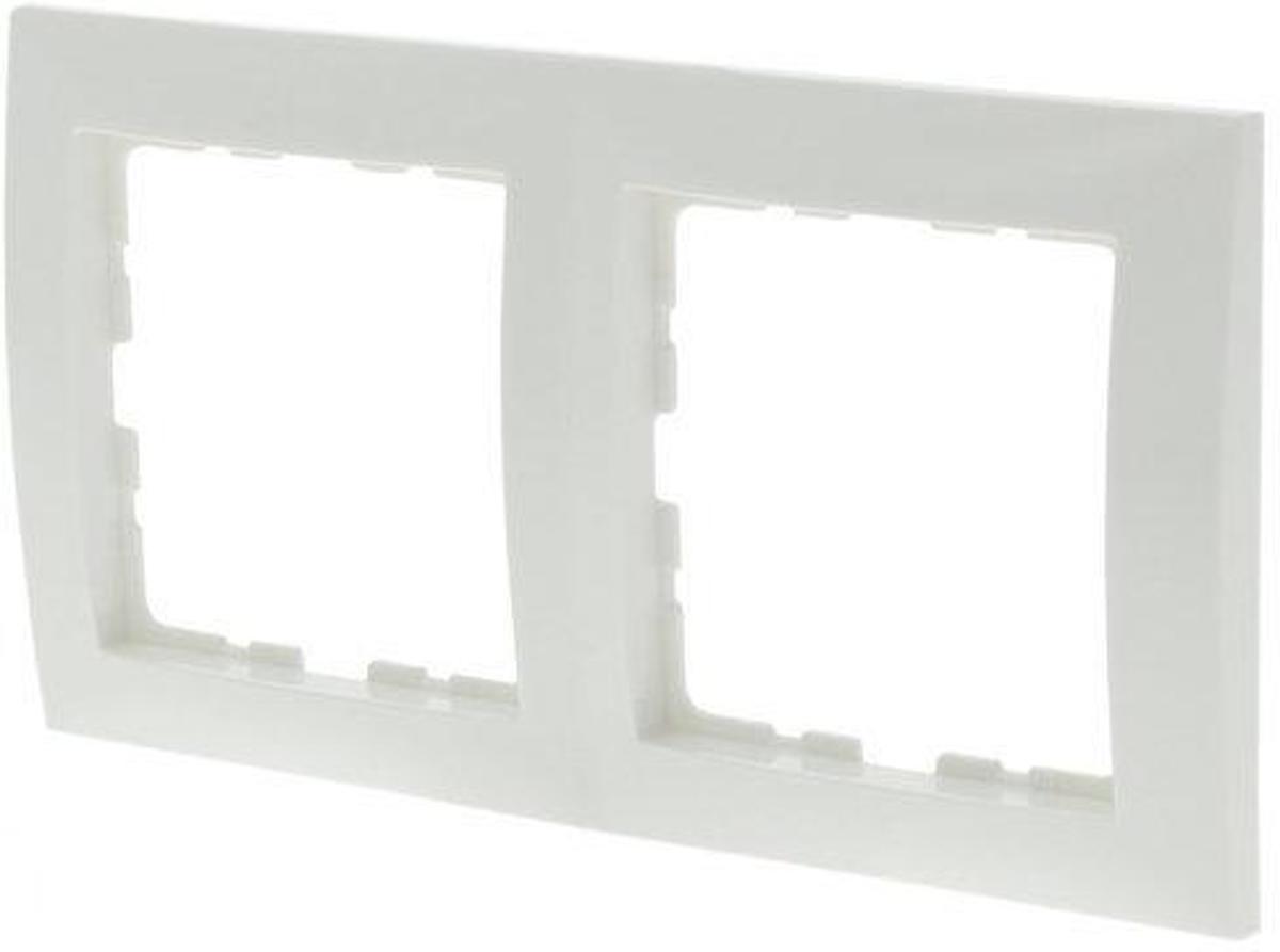 Berker S1 Inbouw Afdekplaat - 2-voudig - Polarwit